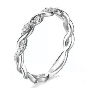 🌸White Topaz 925 Silver Ring JR02